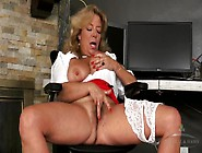 Big Tits Secretary Masturbating Erotically At Work
