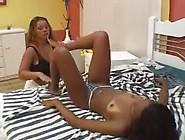 Brazilian Lesbian Foot Worshiping Action