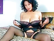 Beautiful Woman Masturbates Vibrator On The Bed
