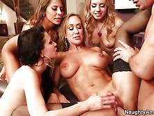 Four Girls And A Guy Get There Christmas Party On