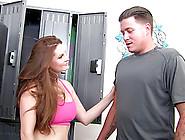 Locker Room Seductress Wants Cock Deep In Her Wet Snatch