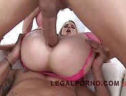 Legal Teen With A Big Ass In Pink Lingerie Has Several Black Guy