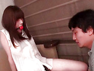 Japanese Teen With Gag In Her Mouth Gets Her Slit Licked Indoors