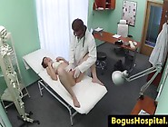 She Gets Her Pussy Filled With Cum At The Doctors Office