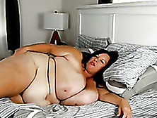 Lustful Bbw Wife Playing With Huge Boobies In The Morning