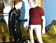Latex Suit Lady Vs Tighty Whities Part 1