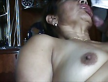 Fat Mature Hispanic Couple In A Nice Assfuck.