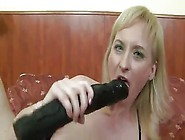 Monster Dildo And Giant Black Dick All At Once