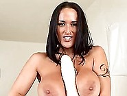 Sizzling Carmella Bing Toys Herself With Gigantic Dildo