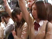Cute Japanese Schoolgirls With Upskirt Are Showing Their Panties