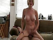 Mature Blonde Amateur Melanie Slur[S On Hubby's Cock And Ge
