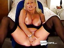 Blonde Mature Cougar Fucks Herself