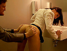 His Thickness Fucks Her Hard In A Passionate Bathroom Scene