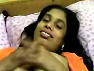 Bangla Aunty In Blouse With Devar At Room