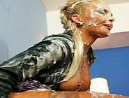 European Gloryhole Dame Filled Up In Sperm