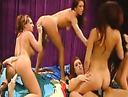 Hot And Wild Lesbians In An Orgy With Toys