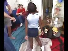 An Ebony Midget In A Gangbang