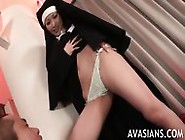 Atracting Nun Demands Just To Lick Her Ass Hole