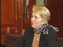 German Blonde Grandma Gets A Hardcore Fuck On The Desk