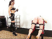 Cruel Skinny Mistress Whips And Tortures Her Slave