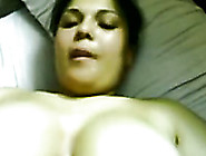 Chubby Amateur Arab Lady With Big Boobs Jerks Off Her Man's Dick