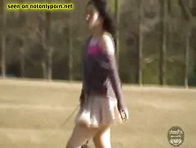 Desperate Pretty Japanese Girl Pissing And Pooping Outdoor While