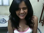 Cute And Sexy Indian College Girl On Webcam Flashing Her Breasts