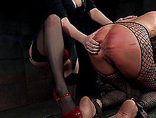Two Kinky Blondes Have Some Bdsm Fun In The Dungeon