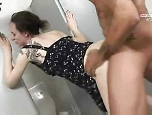 German Slut Drinking Pee In Wc