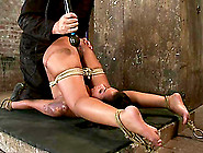 Hog Tied Skin Diamond Gets Whipped And Toyed