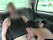 Huge Tits British Babe Fucking In Fake Taxi