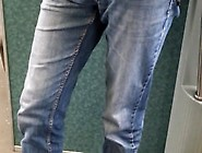 Bulge In Denim On Train Spy