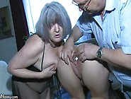 Sexy Young Girl Playing With Old Man And His Old Chubby Mature