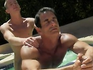 Free Anal Gay Sex Video Clip Daddy Poolside Prick Loving