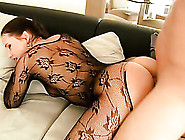 Teen In A Black Body Stocking Fucked In Her Slutty Cunt