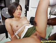 Pretty Oriental Babe Drilled In Ass By Bbc