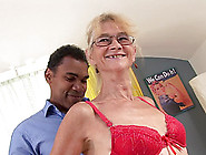 A Granny Gets Her Vintage Pussy Fucked And Jizzed In By A Black