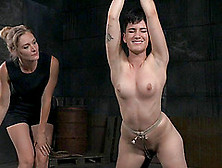 Mona Wales And Joey Minx In The Hardcore Bdsm Basement Session