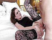 Kinky Bitch Likes To Feel A Huge Dildo Deep In Her Wet,  Round As