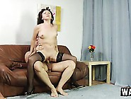Hot Mature Lady In Black Stockings Natalya Gets Fucked By A Youn