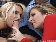 Holly Halston And Sara Jay Are Hanging Around In The Living Room