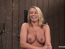Mellanie Monroe Likes To Feel Pain While Her Pussy Is Being Stim