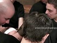 Slut With Eyes Tied And Hands Bound Behind In Spanking Sado Maso