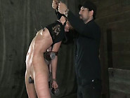 This Dirty Whore Is Getting Humiliated And Punished In The Dunge