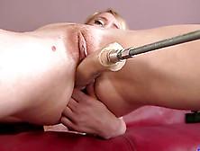 Solo Model Nicki Blue Pleasured Using Sex Machine
