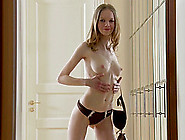 Petite,  Fit Bonnie Dances Around The Room While Stripping Naked