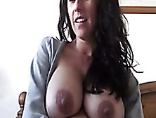 Awesome Pregnant Naughty Brunette Wife Of My Buddy Masturbated