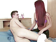 Client Seduce Redhead Massage Teen To Fuck In Parlour