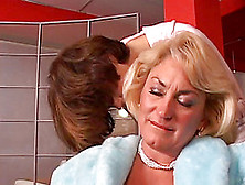 Blonde Mom And Brunette Teen Go Lesbian In Hardcore Video