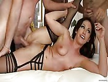 Guys Of All Ages Share An Alluring Slut